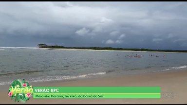 Equipe da RPC está na Barra do Saí, em Guaratuba - Jasson Goulart mostrou um dia de diversão, emoção e homenagens na praia.