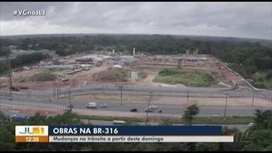 BR-316 sofre mudanças no trânsito de veículos devido a obras - BR-316 sofre mudanças no trânsito de veículos devido a obras