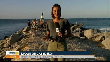 Navio de guerra, em Cabedelo, e quebra-mar na Praia do Dique viram atrações - Fragata tem canhões navais, lançadores de mísseis e torpedos e praia reúne quem quer ver o por do sol.