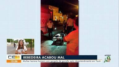 Mulher lesiona homem em Tauá e homem sofre golpe em Acopiara - Saiba mais em g1.com.br/ce