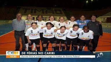 Jogadora de futebol de férias visita o Cariri; Barbalha enfrenta Caucaia amanhã - Saiba mais em g1.com.br/ce