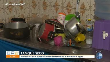 Moradores de Cajazeiras enfrentam transtornos causados pela falta de água - Comunidade sofre com o problema há dois meses.