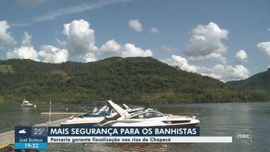 Parceria entre Marinha e prefeitura garante fiscalização em rios de Chapecó - Parceria entre Marinha e prefeitura garante fiscalização em rios de Chapecó