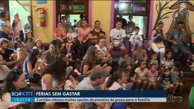 Curitiba oferece muitas opções de passeios de graça para a família - São opções para curtir as férias sem gastar.