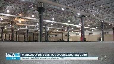 Mercado de eventos em Campinas prevê aumento de pelo menos 30% em 2020 - Expectativa acontece no comparativo com 2019 e aponta aumento no lucro e oportunidades de emprego na região.