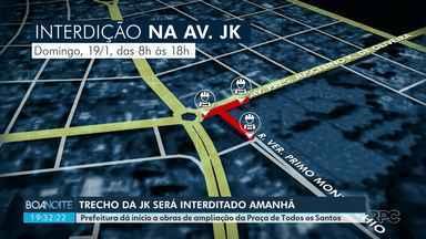 Trecho da JK será interditado amanhã - Prefeitura dá início a obras de ampliação da Praça de Todos os Santos.