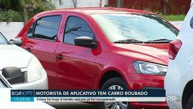 Motorista de aplicativo tem carro roubado em Maringá - Veículo foi encontrado horas depois; vítima conta que este é o segundo assalto sofrido por ela em três meses