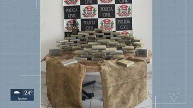 Três homens são presos em flagrante com 75 tijolos de cocaína em Santos - Ao todo, foram mais de 80 kg de droga apreendidas. Investigação acontecia há um mês.