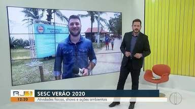 Diversas atividades agitam o Sesc Verão no Farol de São Thomé, em Campos - A programação está animada com muitas atividades físicas, shows e ações ambientais.