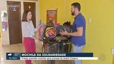 Projeto arrecada mochilas para crianças do Jardim Canguru - Projeto arrecada mochilas para crianças do Jardim Canguru