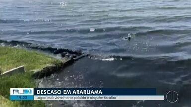Lagoa de Araruama, no RJ, sofre com poluição - Mau cheiro incomoda moradores da região.