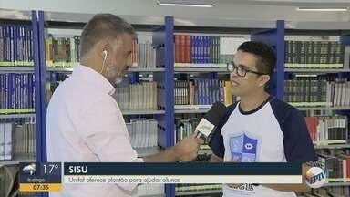 Unifal entra em esquema de plantão para dúvidas do Sisu - Inscrições com nota do Enem começaram nesta terça-feira