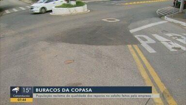 Moradores reclamam de reparos em asfalto pela Copasa em Pouso Alegre, MG - Valor de multas aplicadas chega a R$ 135 mil