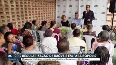 Governo e prefeitura prometem regularizar imóveis em Paraisópolis - Regularizaçào de mil casas deve ocorrer em até 10 meses.