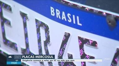 Placas do Mercosul começam a ser exigidas em SC em fevereiro - Placas do Mercosul começam a ser exigidas em SC em fevereiro