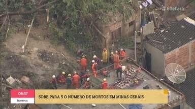 'É de Casa' acompanha a previsão do tempo no Brasil - Em Minas Gerais subiu para 5 o número de mortos em decorrência das chuvas