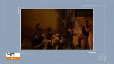 Vídeo mostra criança sendo resgatada em desabamento no bairro Jardim Teresópolis, em Betim
