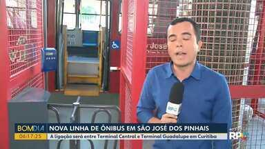Nova linha de ônibus em São José dos Pinhais - A ligação será entre Terminal Central e Terminal Guadalupe em Curitiba