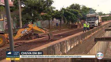 BH ainda se recupera da chuva - Vários pontos da cidade ainda estão afetados por lama e sujeira