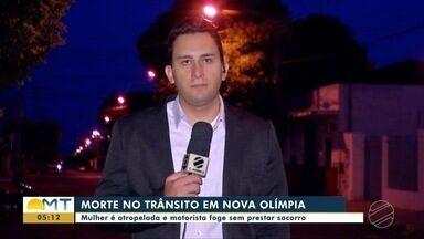Mulher é atropelada em Tangará da Serra e motorista foge sem prestar socorro - Mulher é atropelada em Tangará da Serra e motorista foge sem prestar socorro