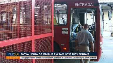Nova linha de ônibus em São José dos Pinhais faz a tarifa ficar mais barata - A ligação será entre o Terminal Central e o Terminal Guadalupe, em Curitiba.