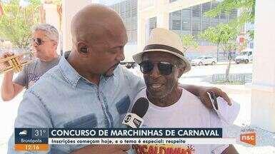 Jornal do Almoço lança concurso 'Marchinhas de Carnaval'; veja como participar - Jornal do Almoço lança concurso 'Marchinhas de Carnaval'; veja como participar