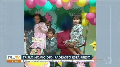 Justiça deve ouvir suspeito de provocar incêndio que matou três crianças em Paraty - Audiência de Custódia acontece na tarde desta segunda-feira, em Volta Redonda.