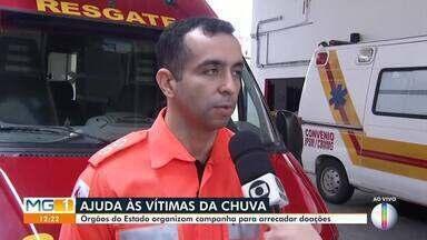 Orgãos de Montes Claros organizam campanha para arrecadar doações para vítimas da chuva - Doações serão entregues para toda região de Minas Gerais.