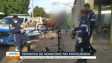 Três homens forma baleados no bairro Pintolândia,zona oeste de Boa Vista. - Um dos baleados usa tornozeleira eletrônica,