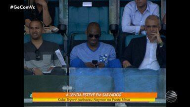 GE homenageia Kobe Bryant relembrando a visita do atleta à Arena Fonte Nova, em Salvador - O astro esteve na capital baiana onde conheceu Neymar.