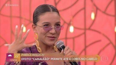 Priscilla Alcântara já mudou muito de visual - Fátima conta que produção encontrou 10 diferentes looks da cantora