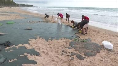 Origem do óleo que contaminou litoral ainda é desconhecida - Cinco meses depois que as primeiras manchas apareceram, Marinha e Polícia Federal continuam as investigações, mas não sabem com precisão a origem do desastre.
