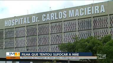 Promotoria investiga se idosa que foi asfixiada em São já vinha sendo vítima de violência - A polícia vai interrogar mais uma vez Luciana de Paula Macieira que foi filmada tentando matar a mãe.