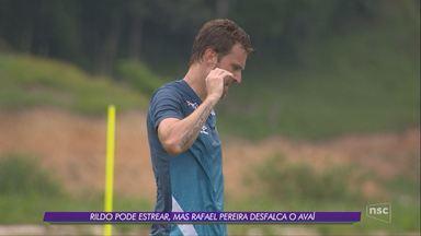 Rildo pode estrear, mas Rafael Pereira desfalca o Avaí - Rildo pode estrear, mas Rafael Pereira desfalca o Avaí