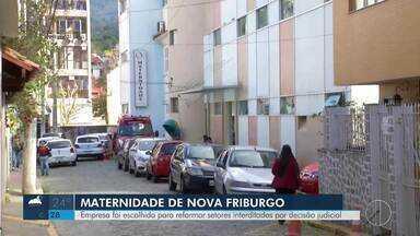 Empresa é escolhida para reformar setores interditados na maternidade de Nova Friburgo - Setores foram interditados após uma decisão da justiça.