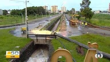 Grande volume de água gera risco de rompimento de barragens em Catalão - Prefeitura de Catalão decretou situação de emergência na região.