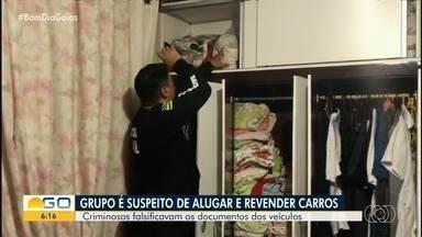 Ação investiga suspeitos de alugar carros de luxo, falsificar documentos e revendê-loss - São cumpridos 18 mandados de prisão e três de busca e apreensão em Goiás, São Paulo e no Distrito Federal. Justiça também bloqueou R$ 1 milhão dos suspeitos.