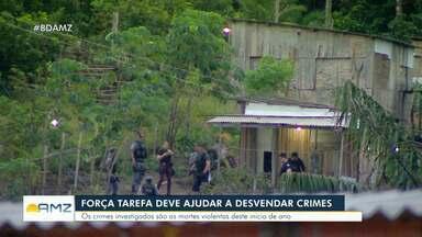 Força-tarefa deve ajudar a desvendar mortes violentas deste início de ano em Manaus - Força-tarefa deve ajudar a desvendar mortes violentas deste início de ano em Manaus