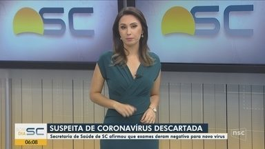 Casos suspeitos de coronavírus em SC divulgados pelo Ministério da Saúde são descartados - Casos suspeitos de coronavírus em SC divulgados pelo Ministério da Saúde são descartados