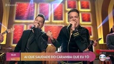 João Neto e Frederico cantam 'Saudade do Caramba' - Confira