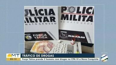 Força Tática e Rotam prendem suspeitos com drogas no CPA III e no Nova Conquista - Força Tática e Rotam prendem suspeitos com drogas no CPA III e no Nova Conquista