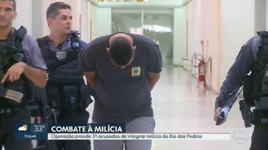 Operação prende 31 acusados de integrar milícia do Rio das Pedras - Os homens apontados como chefes da milícia do Rio das Pedras foram denunciados pelo Ministério Público.