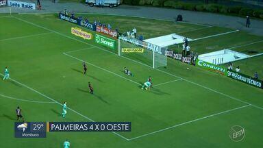 Palmeiras faz 4 gols sobre Oeste e São Paulo ganha de virada do Ferroviária - Veja os lances da partida.