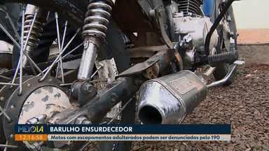 Motos com escapamentos adulterados podem ser denunciadas pelo 190 no Paraná - Denúncias também podem ser feitas pelo aplicativo da Polícia Militar