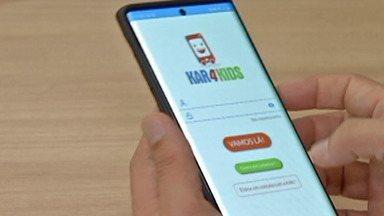 Aplicativo oferece serviço de transporte de crianças e adolescentes em Mogi das Cruzes - O aplicativo seleciona passageiros entre 6 meses e 17 anos de idade para transporte escolar. Os motoristas cadastrados no aplicativo precisam ser mães.