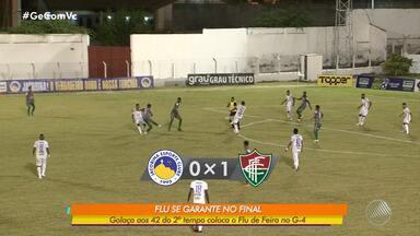 Jacobina x Flu de Feira: a partida só foi decidida depois de 40min do segundo tempo - O Fluminense se garantiu no G-4 com o um golaço de Elton.