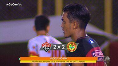 'Baianão 2020': Vitória vacila no final do segundo tempo e empata com o Juazeirense - Confira os melhores momentos da partida.