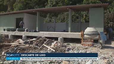 Ilha do Mel ganha área de transbordo para evitar que lixo fique na areia - É um lugar correto para o descarte de lixo.