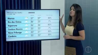 Confira a previsão do tempo desta sexta-feira, 31 de janeiro de 2020 - O RJ2 traz as temperaturas das cidades do interior do Rio.