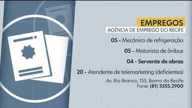 Confira vagas disponíveis na Agência de Emprego do Recife - Há cinco vagas para mecânico e quatro para servente de obras, entre outras.
